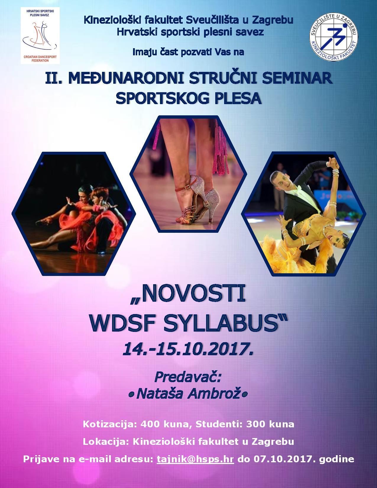 II. Međunarodni stručni seminar sportskog plesa