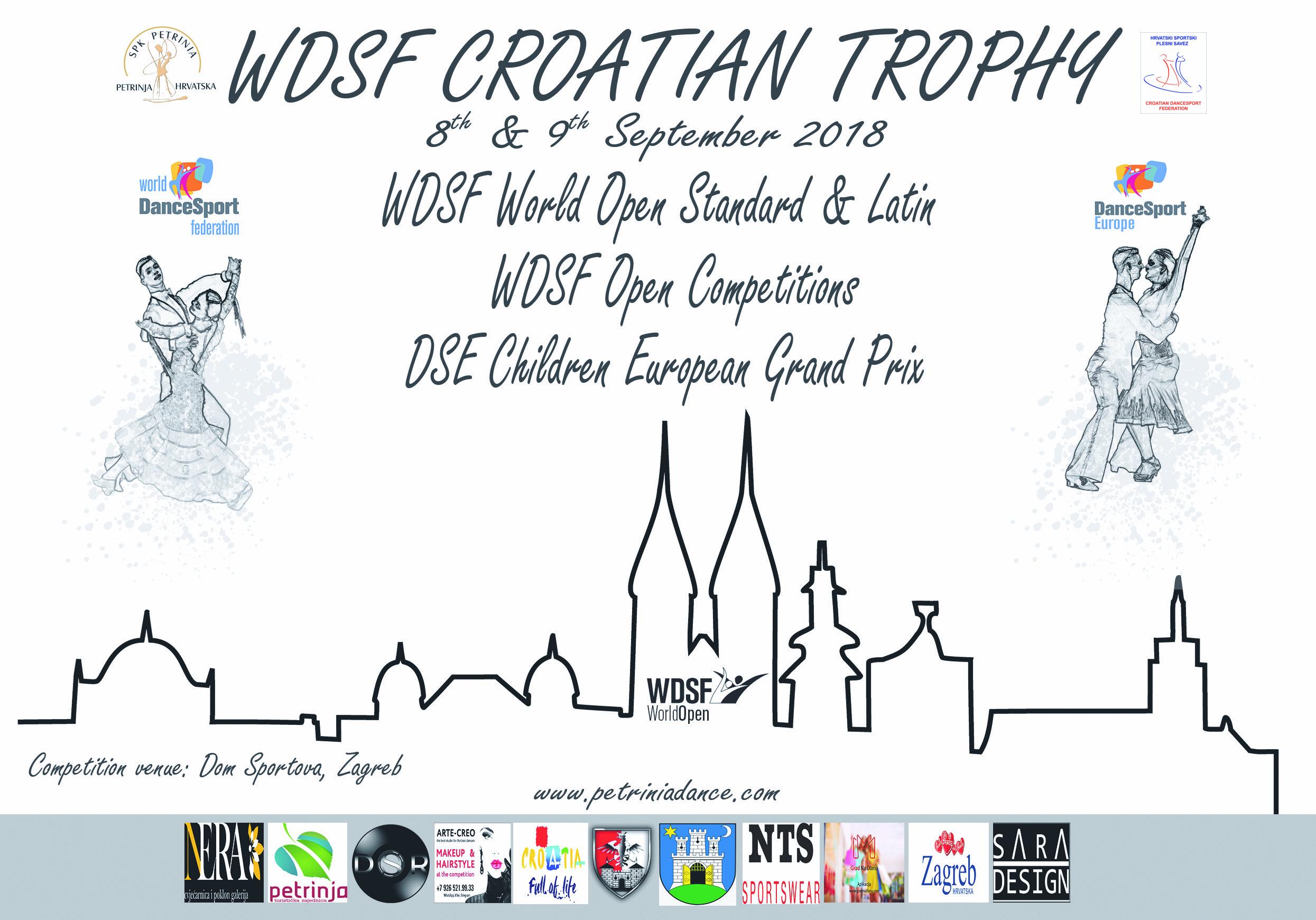 WDSF Croatian Trophy 2018 – međunarodno natjecanje u Zagrebu