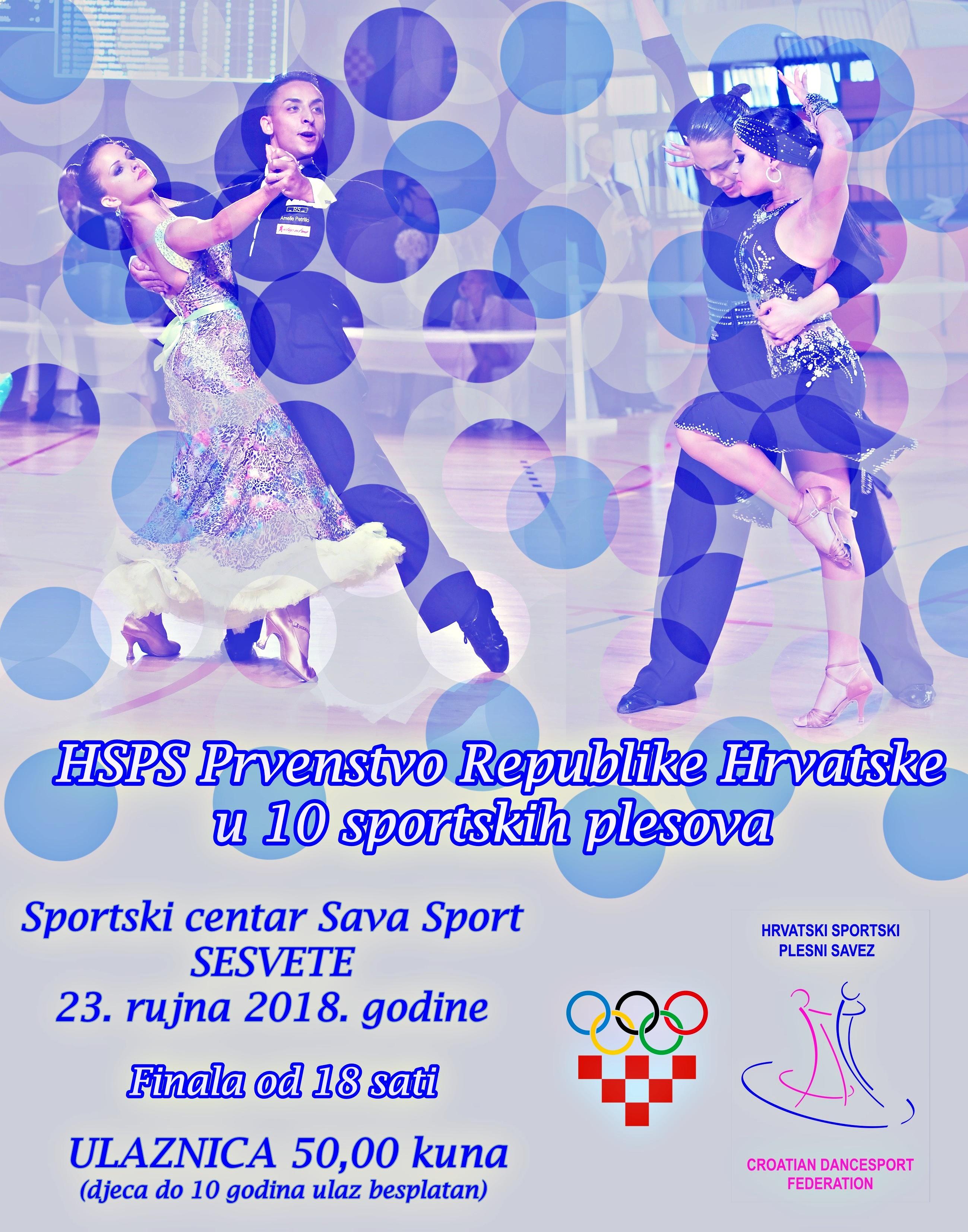 HSPS Prvenstvo Republike Hrvatske u kombinaciji 10 sportskih plesova