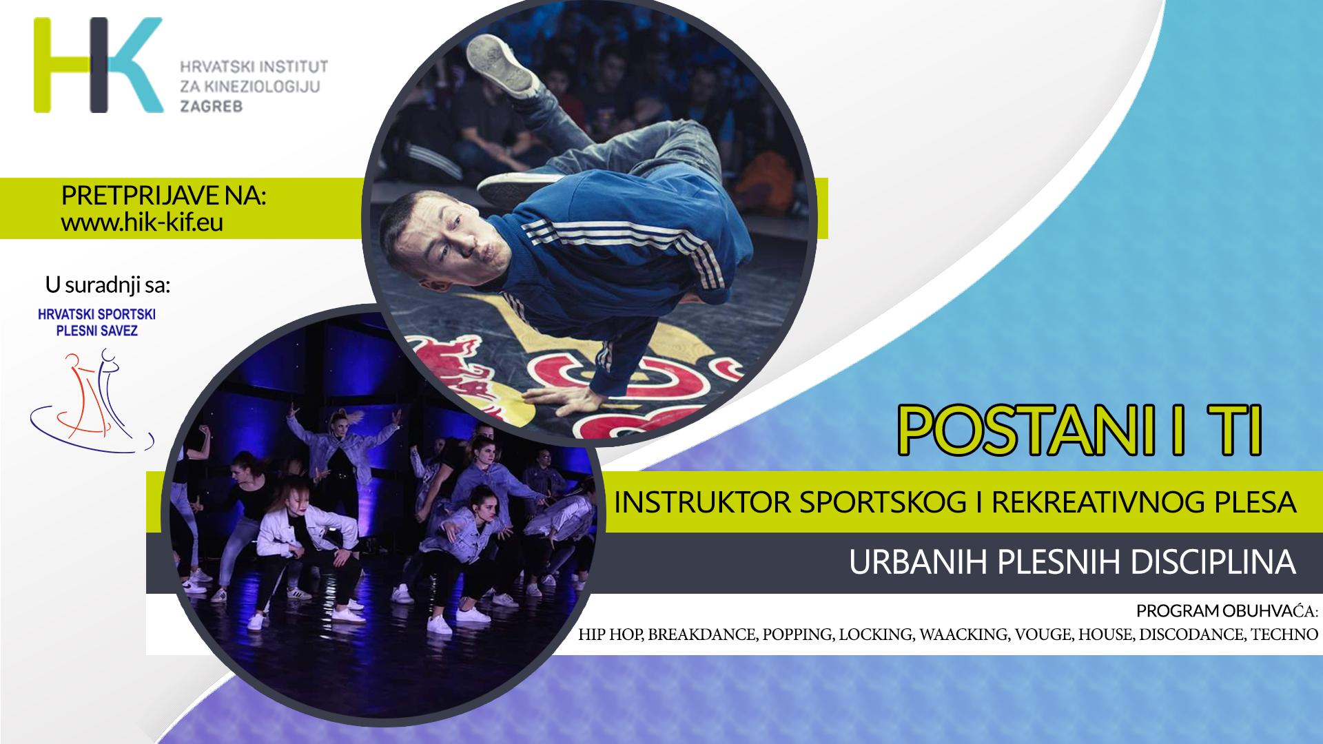 Urbane plesne discipline – stručno osposobljavanje pri Hrvatskom institutu za kineziologiju